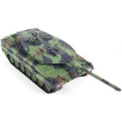 XciteRC Leopard 2A6 - RC- Vehículos militares terrestres (Níquel-Hidruro metálico (NiMH), Tanque de juguete)