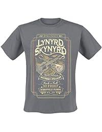 Lynyrd Skynyrd Southern Straight Camiseta Gris Marengo