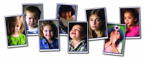 24 multikulturellen kid Emotionen Karten