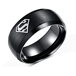 Cairo Super Hero Black Metal Alloy Finger Rings For Boys Men