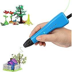 Soyan 3d-Impresora profesional para los niños, USB funciona con los antiácaros ABS & PLA (azul)