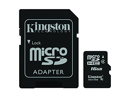 Kingston-SDC416GB-Tarjeta-de-memoria-micro-SDHC-de-16-GB-4-MBs-negro