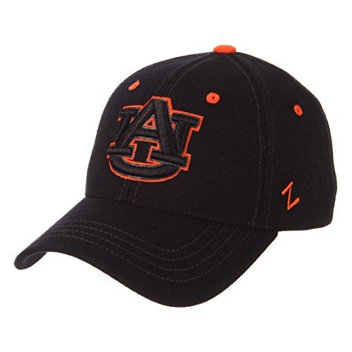 Zephyr Auburn University Tigers AU Black Top Element DH Mens/Boys Fitted Hat/Cap Size XL -