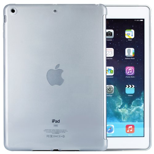 iPad Air Hülle - moodie Silikonhülle Schutzhülle Case mit Smart Cover Aussparung für Apple iPad Air (Transparent)