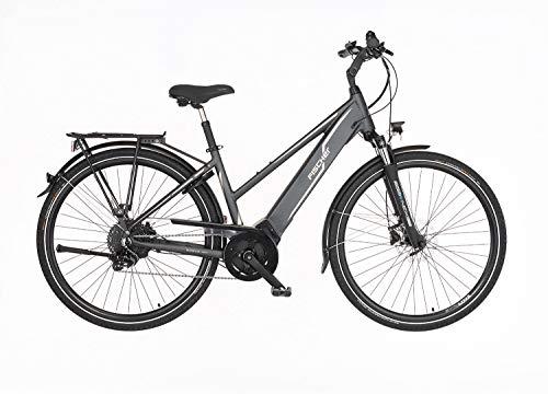 FISCHER Damen - E-Bike Trekking VIATOR 5.0i (2020), grau matt, 28 Zoll, RH 49 cm, Brose Drive C Mittelmotor 50 Nm, 36V Akku im Rahmen*