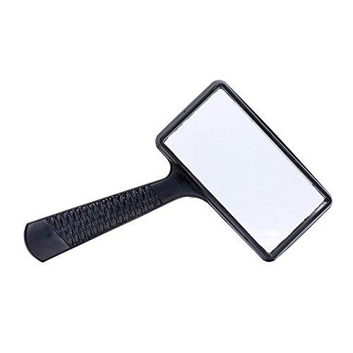 5X Rechteckige Lupe im Plastikrahmen Handlupe