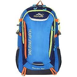 HWJIANFENG 30L Sac à dos de Randonnée pour Femme Homme Sac de Voyage pour Sport Alpinisme Escalade Trekking Camping Sac Ordinateur Quotidien Bleu
