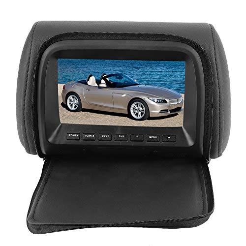 EBTOOLS 7 pollici Monitor poggiatesta auto, poggiatesta widescreen auto Monitor LCD MP5 Riproduttore DVD video telecomando 12V