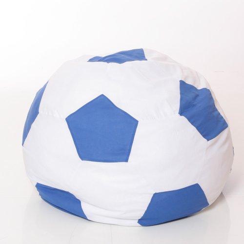 Osann Sitzsack, Sitzkissen, Bodenkissen, Polster-Möbel, WM-Fussball-Sitzsack, 180L, Babyblume, blau.weiss