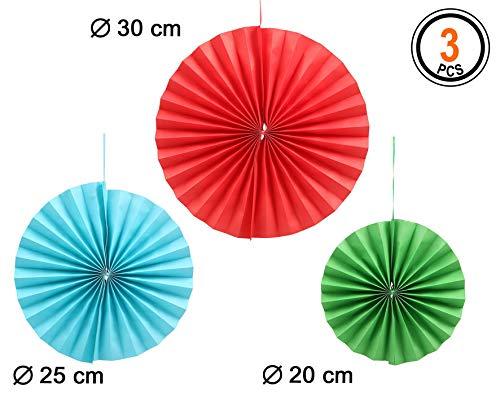 Atosa-Atosa-50750-abanico 3 Unidades, Multicolor (50750)