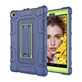 Fulltime E-Gadget Hülle Schutzhülle Cover Case Tablet Case Shockproof Stand Hard Cover Für Amazon Kindle Fire HD 8 2017/2018 8. Gen (Blau)