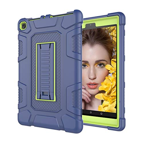 Fcostume Hülle Für Amazon Kindle Fire HD 8 2017/2018 8. Gen Tablet Hülle Stoßfester Ständer Hard Cover (Blau) (Hard Fire Cover Für Kindle)