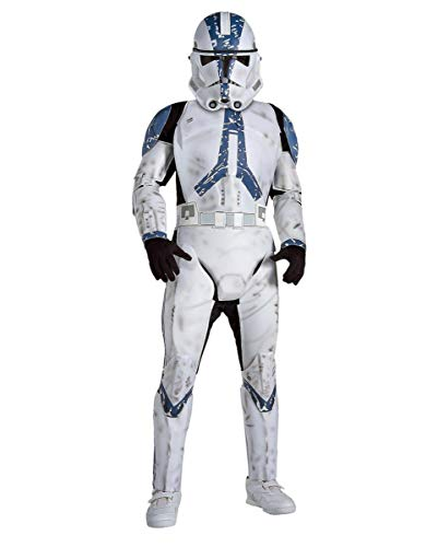 Star Clone Deluxe Kind Trooper Wars Kostüm - Clone Trooper Deluxe Kinder Kostüm, L