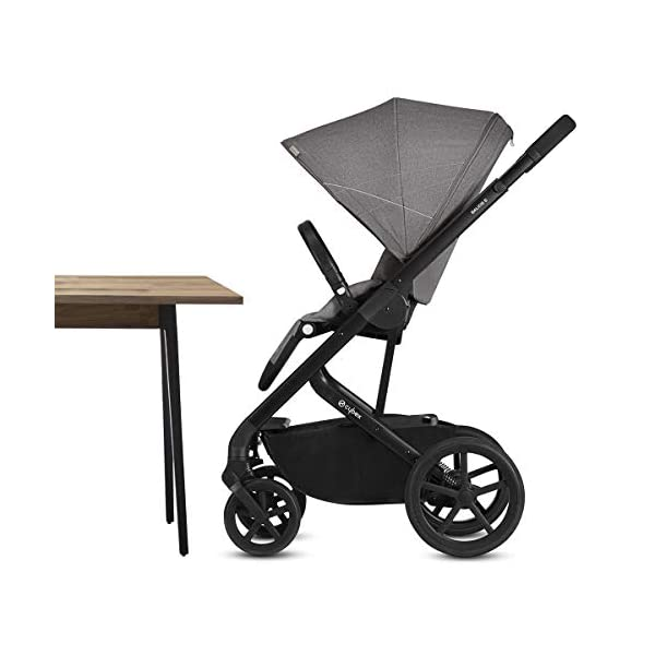 CYBEX Gold Balios S Pushchair, From Birth to 17 kg (approx. 4 years), Denim Blue Cybex Stylish, high-quality pushchair with reversible, comfortable seat and 5-point harness - Suitable for use from birth to 17 kg (approx. 4 years) with Cot S attachment - Including raincover for optimum use in all weather conditions High mobility: All-terrain wheels with soft-wheel suspension, Swivelling and lockable front wheels, Easy one-hand folding to compact size (41 x 60 x 75 cm), Travel system compatibility with CYBEX and gb baby car seats and Cot S pushchair attachment Carefree everyday life: One-hand recline adjustment of seat, Spacious shopping basket, Adjustable footrest, High seat height, XXL sun canopy, 4-point adjustable push handle with max. height of 110 cm 4