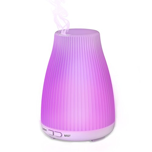 Neloodony Ätherisches Öl Diffusor 100ML Ultraschall Aromatherapie Diffusoren Cool Mist Befeuchter Portable mit 8 Farben Led Lights (Diffusoren Ultraschall-öl)