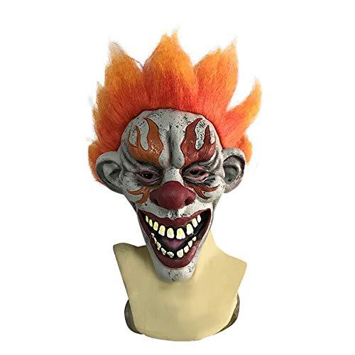 Weird Scary Mask Flames Clown Requisiten Halloween Karneval Weihnachtsfeier Dekoration Latexmaske Bar Haunted House Movie Requisiten Horror Party Maske Erwachsene ()