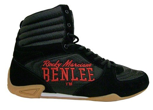 Benlee Herren Leder Box Schuhe Jabs, Farbe:black/red;Größe:45