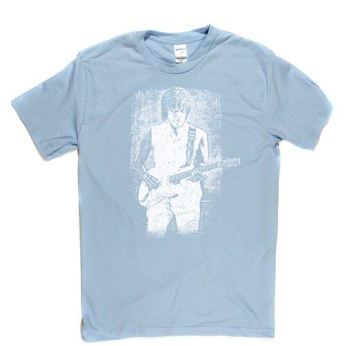 Jeff Beck 2 English Rock Guitarist T-shirt Himmelblau