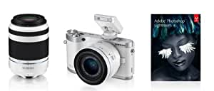 Samsung SMART NX300 Twin lens Kit Compact System Camera - White (20.3 MP, CMOS Sensor) 3.3 inch Amoled