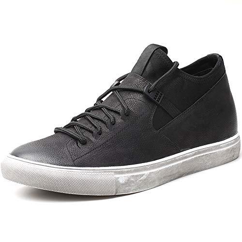 CHAMARIPA Schwarz Höhe Zunehmende Schuhe Aufzug Leder Distressed Skate Herren Sneakers Größer Sie Höhe 6CM / 2.36 Inch-H82B55D011D - Distressed Herren Schuhe
