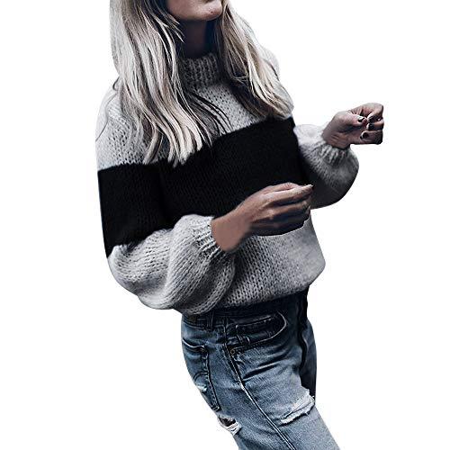 Felpe donna,meibax maglione a maniche lunghe,patchwork,elastico in morbido,cappotto giacca maglioni cappotti donna,cardigan invernali,felpe tumblr,magliette s/m/l/xl
