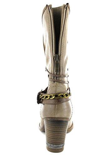 Mustang Damen Halbschaft Stiefel Grau (318 taupe)