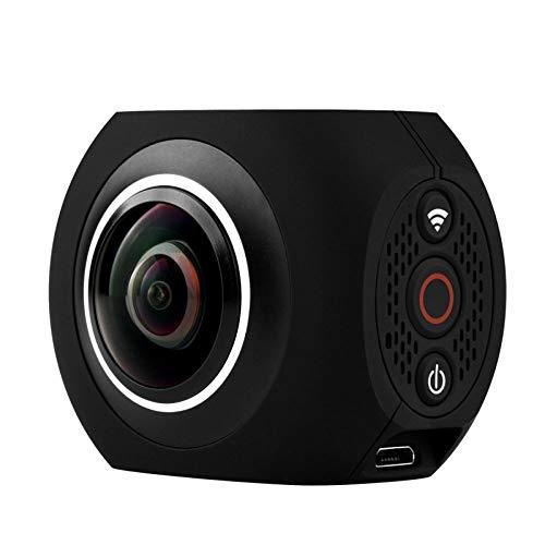Cámara panorámica 4K VR de alta definición de doble lente Cámara de movimiento de 360   grados Cámara al aire libre de 720 grados Función de estabilización electrónica de imagen Tamaño 52x42x36mm cáma
