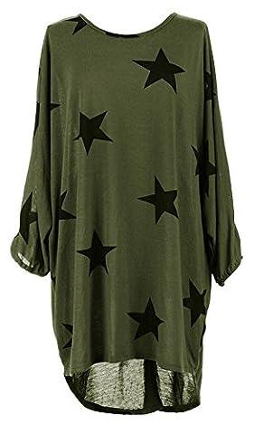 Damen Loose Asymmetrisch Sweatshirt Long Top Oversize Pullover Baggy Oberteile T-shirt Bluse-AGS