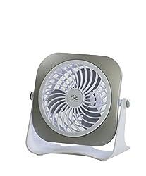 Team-Kalorik-Group USB Ventilator für den Schreibtisch, Ein- / Aus-Schalter, 1 Stück, weiß, TKG VT 1022 SILBER