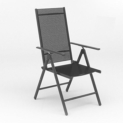 Set da pezzi in alluminio sedia pieghevole da giardino con schienale alto sedia da campeggio in alluminio–sedia a sdraio