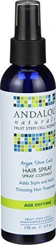 2 Packs of Andalou Naturals Hair Spray - Age Defying - Argan Fruit Stem Cells - 6 Oz by Andalou Naturals