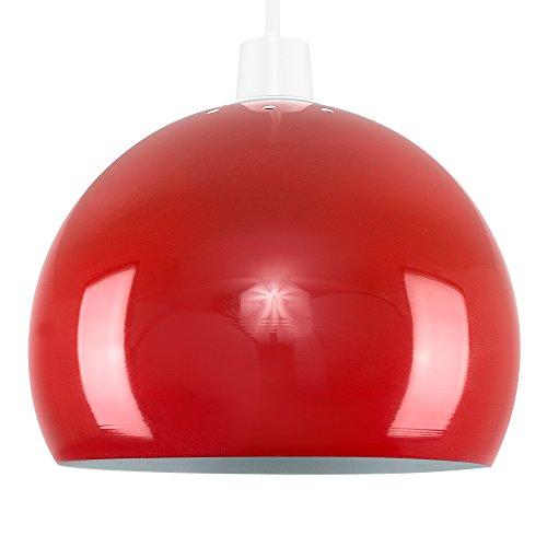 MiniSun - Moderne Mini Métal, Rétro Style ARCO Abat jour, Suspension globulaire en Rouge Brillant