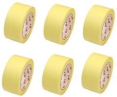 6 Rollen Flachkrepp Abklebeband Malerband