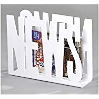 Meubletmoi revistero News Blanco–de revistas Periódicos Robuste Modern Design–Times Color Blanco