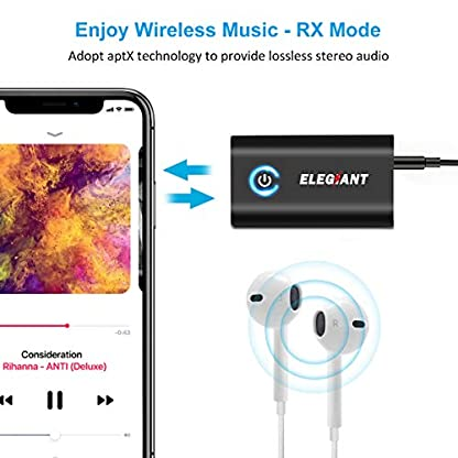 ELEGIANT-Bluetooth-Adapter-2-in-1-Bluetooth-Receiver-Transmitter-Mini-Wireless-Sender-Empfnger-mit-35mm-Klinke-300MAH-fr-Auto-tv-Stereoanlage-iPhone-XS-XR-Samsung-S9-Huawei-Mate-10-P10