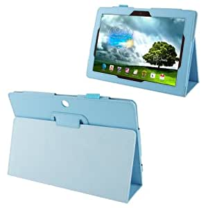 Litchi Texture Leather Case with Holder for Asus MeMO Pad FHD 10 ME302C (Baby Blue)