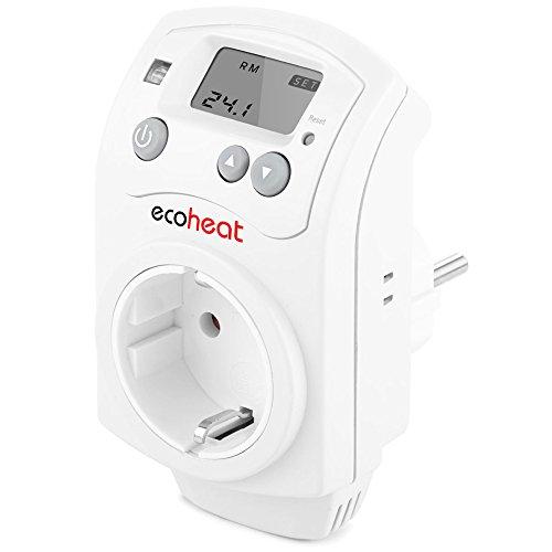 ecoheat DST enchufe Termostato Sonda de enchufe con–Termostato para calefacción por infrarrojos–Regulador de temperatura–Termostato programable enchufe