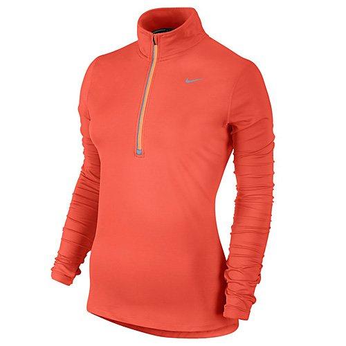Nike Element Half Zip–Top à manches longues pour femme naranja (turf orange / peach cream)