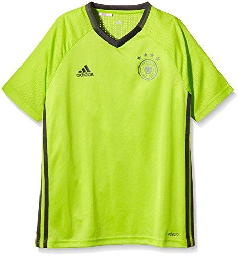 adidas Kinder T-Shirt UEFA Euro 2016 DFB Trainingstrikot Kurzarm Trikot, Solar Slime, 128 -