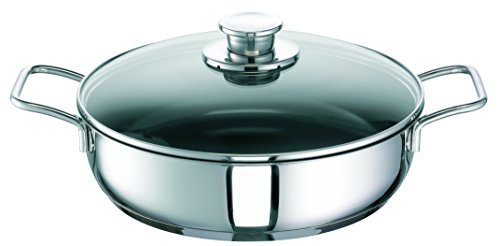 Schulte-Ufer Green Life Stainless Steel with Glass Lid Size: 28cm