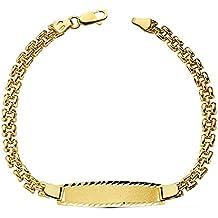 Esclava oro 18k panter 19.5cm. tallada Grabación incluida [AB2281GR] - Personalizable - GRABACIÓN INCLUIDA EN EL PRECIO