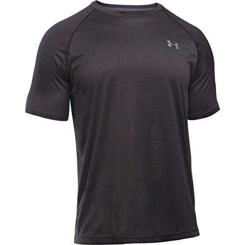Under Armour Herren Fitness T-Shirt UA Tech Tee Black/Black/Graphite