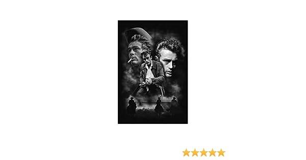 Keilrahmen Bild Gem/älde Wandbild Uglyshirt89 James Dean Premium Leinwand 60 x 40 cm M1