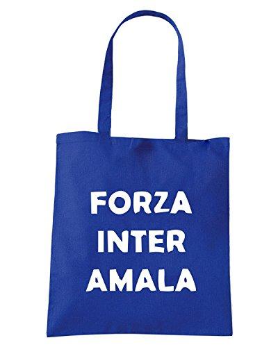 T-Shirtshock - Borsa Shopping TUM0041 ultras forza inter amala Blu Royal