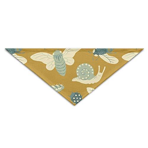 Schnecken Bugs Gold Patterns Dog Bandanas Schals Dreieck Lätzchen Schals Einzigartige Basic Dogs Halstuch Cat Collars