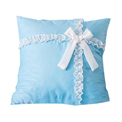 ZH Couverture carrée populaire moderne de coussin de sofa de couleur pure couverture latérale amovible en dentelle perle lavable pour le lit/fenêtre/voiture/sofa Différentes couleurs et tailles