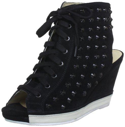 Bronx BX 432-092A203 84092-A203 Damen Sandalen Mehrfarbig (black/white 203)