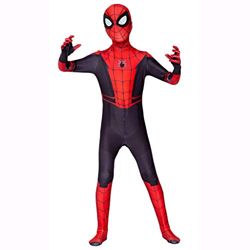Kinder Rot Im Unsichtbaren Kostüm - Xiaodun77 Kinder Spider Man Weit Von Zu Hause Kostüm Marvel Hero Cosplay Kostüm Kinder Weihnachten Halloween Body Overalls Zentai,Rot,XL