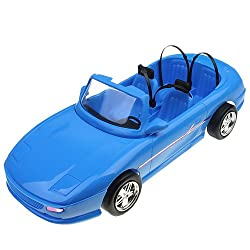 Generic 4-seats Blue Convertible Car Cabriolet Toy For Doll Doll