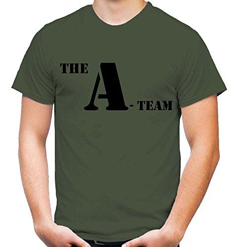 A-Team Männer und Herren T-Shirt | Spruch Hannibal B. A. Geschenk M1 (L, Olive)